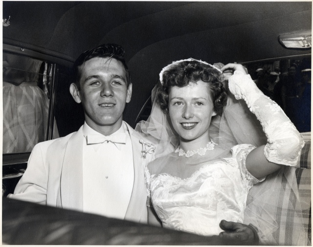 Wedding - Mom & Dad in Car
